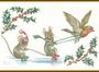 Postcard Molly Brett   Two mice ice skating_