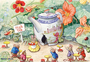 Postcard Racey Helps | The Doll's Tea-Pot_