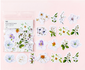 Sticker Flakes   Summer Flowers White_