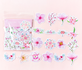 Sticker Flakes | Summer Flowers Pink_