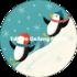 Round Postcard Shutterstock Christmas   Penguin_