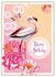 Postcard Edition Tausendschoen | Happy Birthday Flamingo_