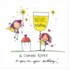 Juicy Lucy Designs Greeting Card - Wine wishes and cupcake kisses_