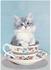 Bizarr Verlag Postcard Vintage Collection | Cup Cat_