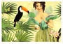 Postcard Edition Tausendschoen | Fairy with Toucan_