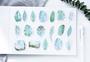 Sticker Flakes Box | Mint Diary - Cute Leaves_